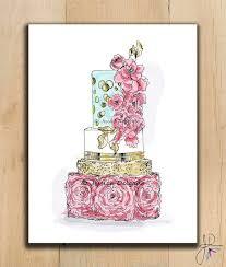 wedding cake drawing wedding cake illustration cake drawing pink ruffles gold