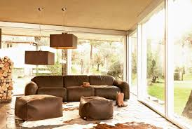 Brown Themed Living Room by Open Plan Living Room Idea In Brown Theme With Unique Arrangement