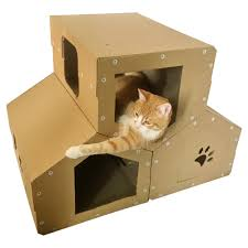 cardboard cat penthouse modern cat treecat furniture cat