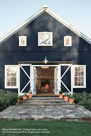 Cottage House by Navy Blue Home Exterior Paint Color Benjamin Moore Newburyport