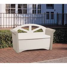 Patio Bench With Storage by Patio Rubbermaid Storage Bench Organize Rubbermaid Storage Bench