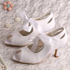 wedding shoes size 9 wedopus mid heel women s lace up shoes for wedding satin lace