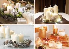 diy candle centerpieces table white pillar candles tree