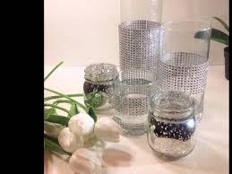 glass candle holder home decor custom tall cylinder table vase set
