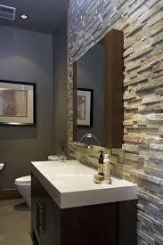 Bathroom Accent Cabinet Bathroom Accent Wall Powder Room Contemporary With Thick Counter