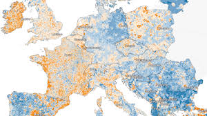 European Map by Map Of European Population Growth And Decline Boing Boing
