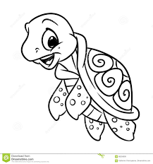 little sea turtle coloring page stock illustration image 88256909
