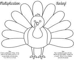 free thanksgiving multiplication turkey activity multiplication