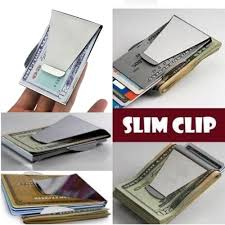 amazon com apg new stainless steel slim clip double sided wallet