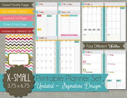 printable planner pages for 2015 the polka dot posie new x small personal size planner pages for