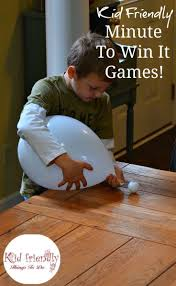 kid friendly easy minute to win it games for your party gaming
