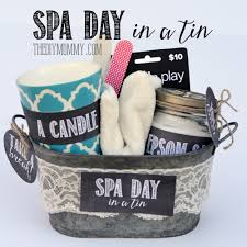 creative gift baskets a gift in a tin spa day in a tin the diy