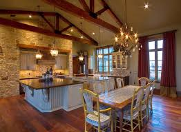ranch style home interior design ranch home rustic kitchen houston by sweetlake interior