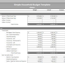 simple household budget template template haven