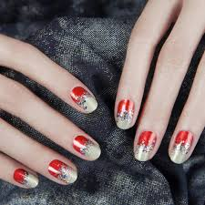 red and gold nail art ideas for chinese new year her world