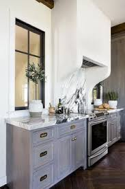 Grey Washed Cabinets Gray Wash Kitchen Cabinets With Dark Gray Veined Marble Kitchens