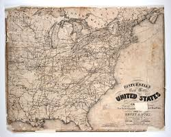 The United States And Canada Map by Disturnell U0027s New Map Of The United States And Canada Showing All