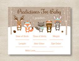 woodland creatures baby shower winter woodland animals predictions for baby winter woodland