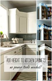How To Level Kitchen Base Cabinets How To Add Height To Kitchen Cabinets