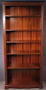 Narrow Mahogany Bookcase Georgian Style Narrow Yew Wood Library Bookcase Bookshelves