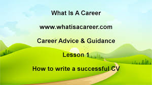 How To Write A Successful Resume How To Write A Successful Cv Youtube