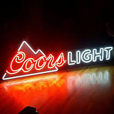 vintage coors light neon sign fashion handcraft coors light mountain real glass tubes beer bar pub