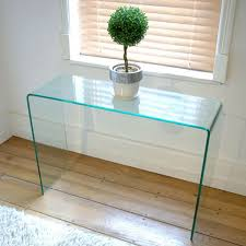 Glass Hallway Table Small Glass Console Table Chene Interiors