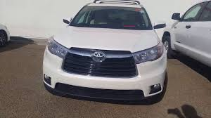 toyota highlander 2016 interior 2016 toyota highlander limited blizzard pearl with beige interior