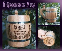 wedding gift groomsmen 6 groomsmen mugs wooden mug will you be my