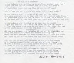 poem written by bro monsel hershey who worked in the watchtower