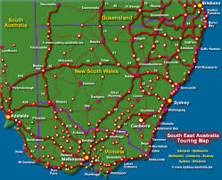 map of new south wales nsw touring map