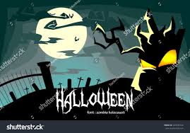 vector creepy halloween background illustration dead stock vector