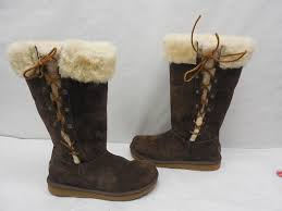 ugg womens boots size 8 ugg womens 5163 lace chocolate suede sheep winter