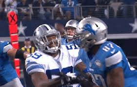 facemask penalty on cowboys lions play goes uncalled