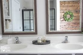 Discount Bathroom Mirrors by We Pulled Down The Builder Grade Mirror Which Now Resides In Our