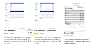 report card template how to change report card templates quickschools support