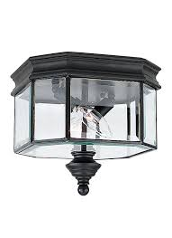Outdoor Flush Mount Ceiling Light 8834 12 Two Light Outdoor Ceiling Flush Mount Black