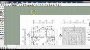 how to import a floor plan in to sketch up youtube