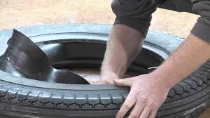 Do Car Tires Have Tubes Flap Installation On A Collector Car Tire Youtube