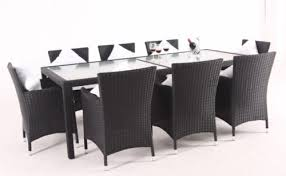 outdoor wicker dining table modern furniture pe rattan dinner set table and chair 7pcs from