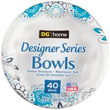 paper bowls dg home heavy duty decorated paper bowl 40 count 20oz