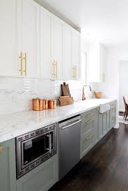 two tone kitchen cabinets white and grey how to use two toned kitchen cabinets in your remodeling