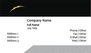 business card templates electrical