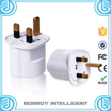 custom factory uk type 13a 3 pin flat electrical plug to eu round