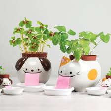 animal planter papa peropon drinking animal planter cat red candy