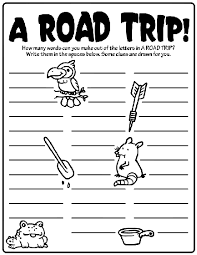 a road trip how many words can you make out of the word kid