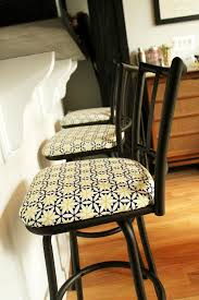 Recovering Chairs Before And After Reupholstering Bar Stools U2014 Unusually Lovely