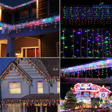 outdoor led icicle christmas lights 3m 30m led string fairy indoor outdoor led icicle curtain decorative