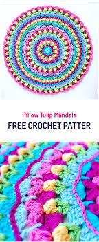 free crochet patterns for home decor pillow tulip mandala free crochet pattern crochet pillow crafts