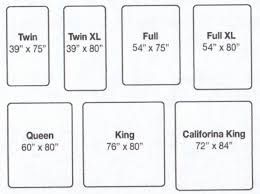 furniture mattress sizes chart dimensions and california king